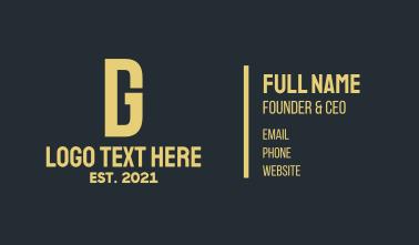 Modern Yellow DG Business Card