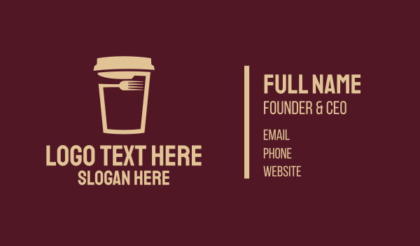 brown cup - Coffee Cup Cafe Business card horizontal design