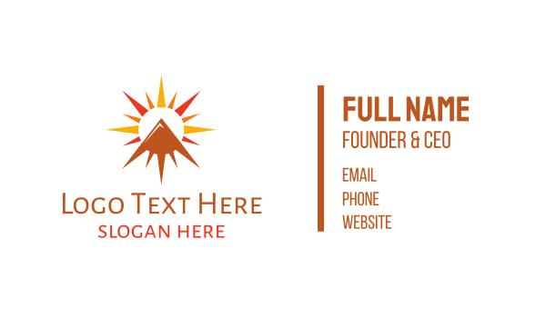 morning - Sun Peak Business card horizontal design