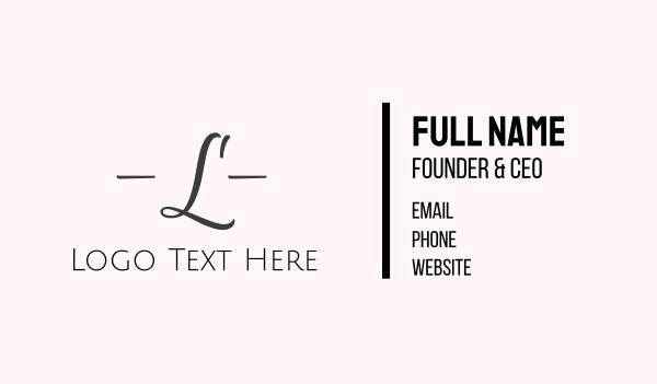 signature - Fashion Elegant Lettermark Business card horizontal design
