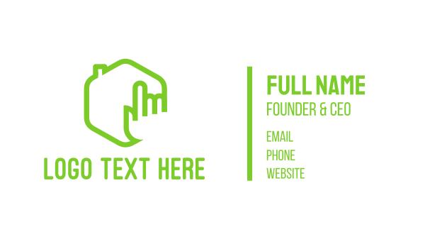 home - House Click Business card horizontal design