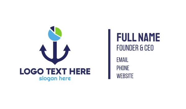 chart - Anchor Chart Business card horizontal design