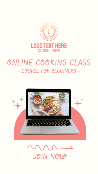 Online Cooking Class Facebook story