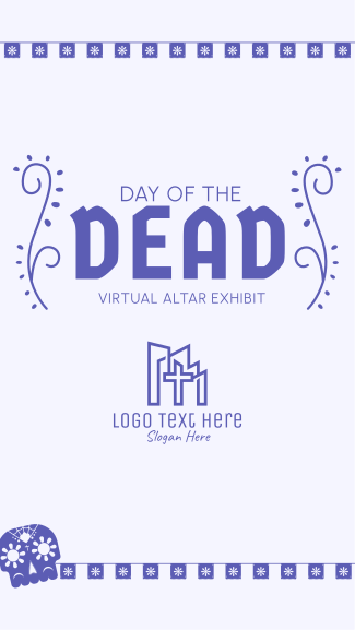 Day of the Dead Skull Facebook story