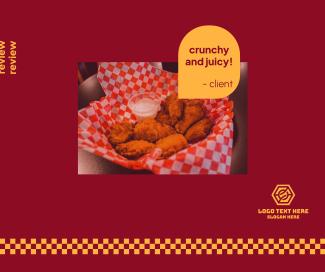 Chicken Checkered Facebook post