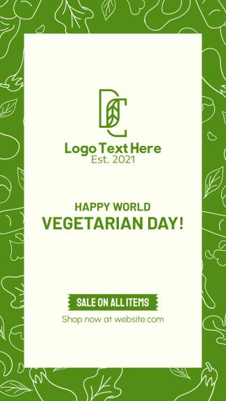 Vegetarian Day Facebook story