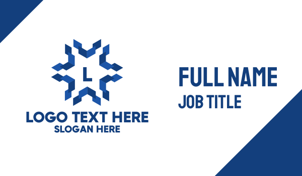 snowflake - Geometric Snowflake Lettermark  Business card horizontal design