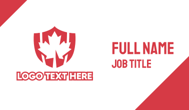 Red Canada Shield Business Card
