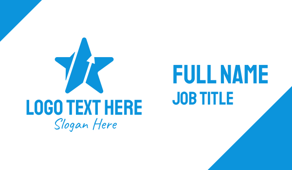 transformation - Blue Star Arrow Business card horizontal design