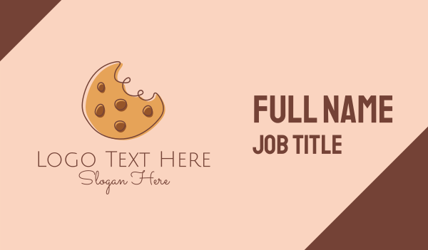 eat - Chocolate Chip Cookie Bite Business card horizontal design