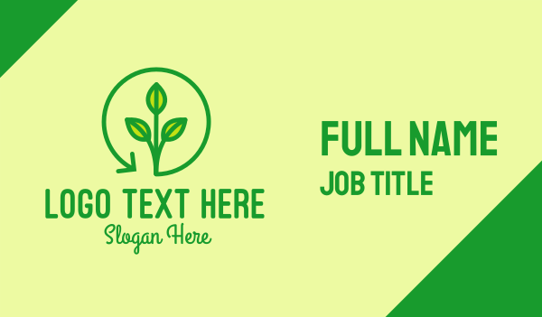 recycling - Green Recycling Plant Business card horizontal design