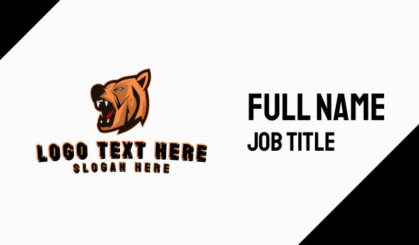 growl - Berserk Bear Gaming Business card horizontal design
