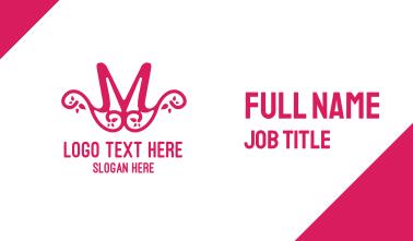Pink Pattern M Business Card