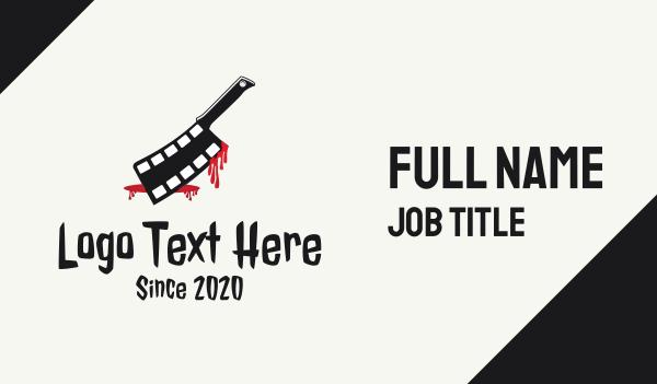 reel - Deadly Thriller Film Business card horizontal design