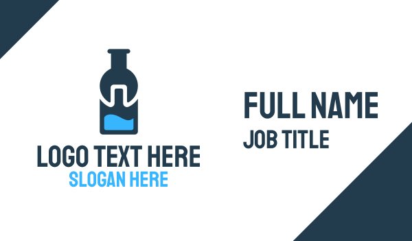 drinking - Water Bottle Fix Business card horizontal design