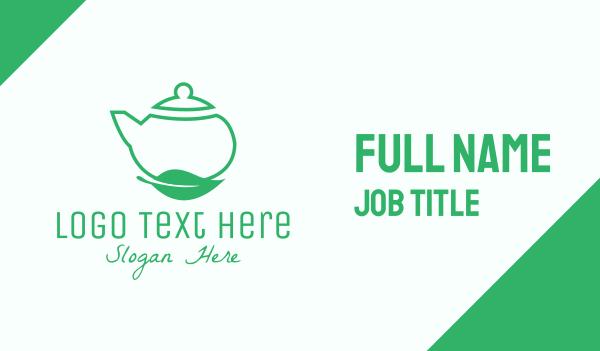 teapot - Organic Tea Teapot Business card horizontal design