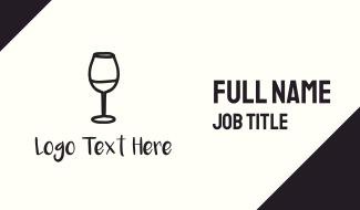 Wine Glass Business Card
