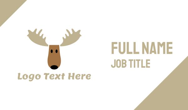 reindeer - Moose Cartoon Business card horizontal design