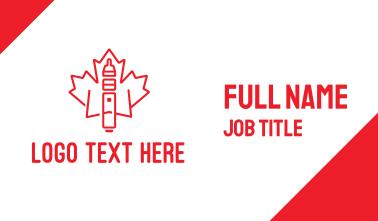 Canadian Vape Business Card