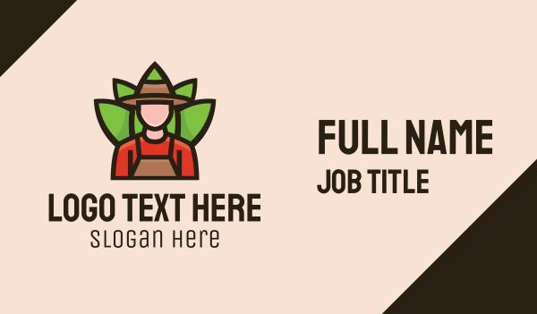 turf - Farmer Gardener Business card horizontal design