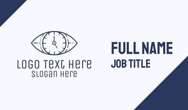 optics - Eye Time Clock Business card horizontal design