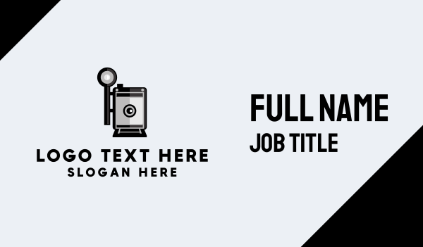 old style - Retro Photography Business card horizontal design