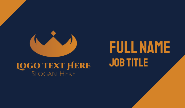 contest - Elegant Horn Crown Business card horizontal design