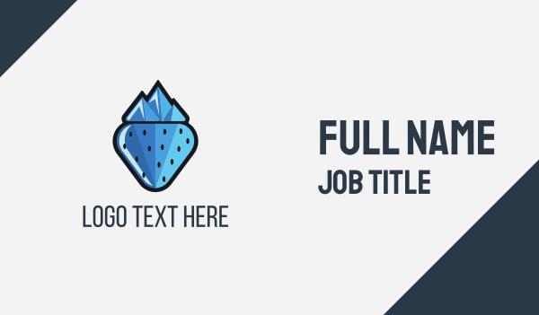iceberg - Frozen Berry Business card horizontal design
