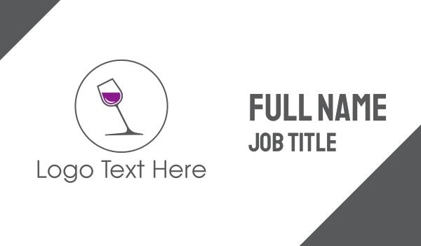 liquor shop - Minimalist Wine Glass Business card horizontal design