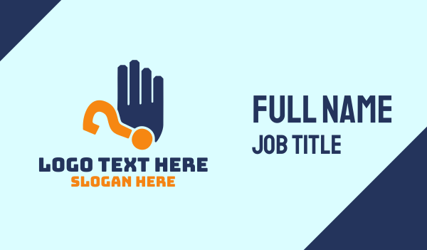 finger - Hand Question Mark Business card horizontal design