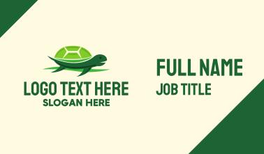 Cute Green Turtle Business Card