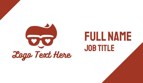 agent - Cool Hipster Geek Business card horizontal design