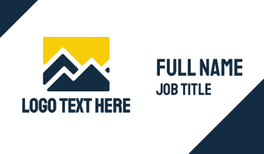 Yellow Blue Mountain Business Card