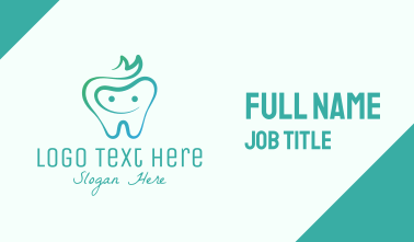 Smiling Dental Tooth Business Card