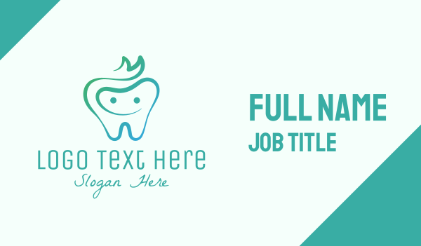 jolly - Smiling Dental Tooth Business card horizontal design