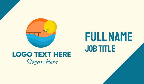 trip - Sunset Beach Port Business card horizontal design