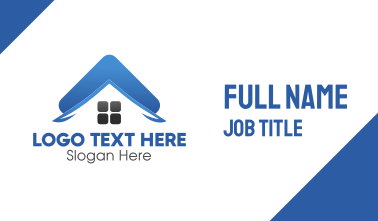 Blue Property Roof Business Card