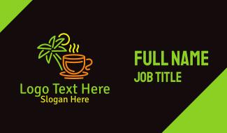 Neon Tropical Tea Business Card