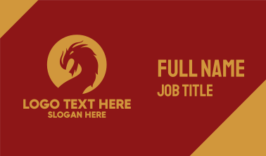 Angry Dragon Mascot Business Card