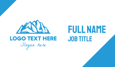 Blue Ice Mountain Business Card