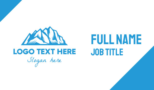 iceberg - Blue Ice Mountain Business card horizontal design