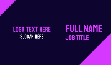 Bright Neon Purple Business Card