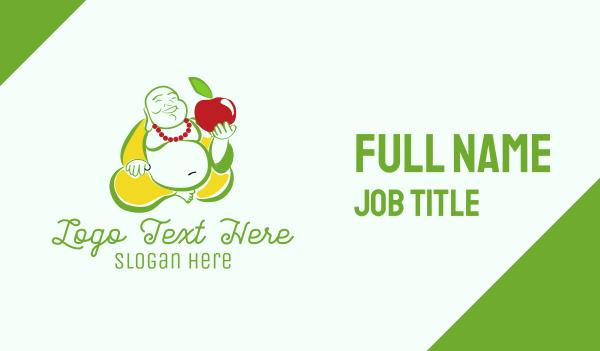 vegan restaurant - Vegan Buddha Restaurant  Business card horizontal design