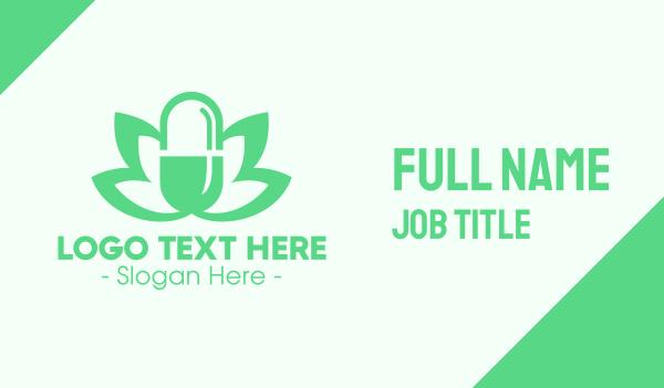 medical cannabis - Green Medical Marijuana  Business card horizontal design