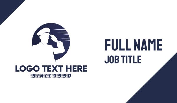 salute - Seaman Captain Business card horizontal design