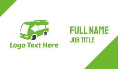 Green Van Bus Business Card