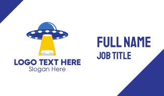 Alien Food Delivery Business Card