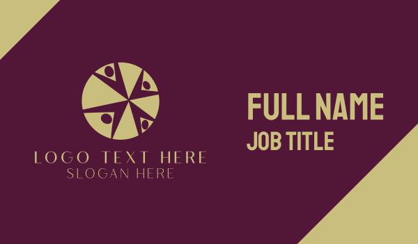 recruiter - Colorful  Reunion Business card horizontal design