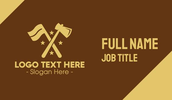 cutting - Flag & Axe Business card horizontal design