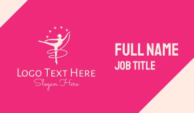 Pink Ballet Gymnast Business Card